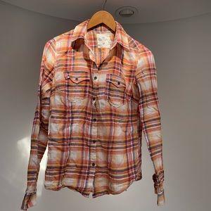 H & M plaid cotton shirt. Very comfy. Soft.
